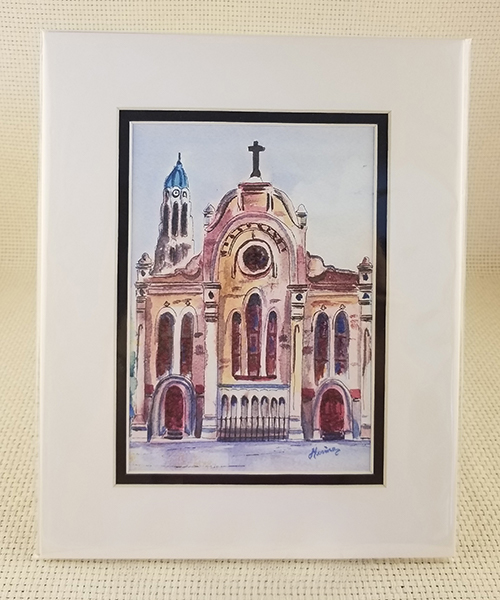 Photo of St. Mary's Assumption Church Watercolor Print