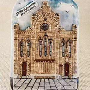 St. Mary's Assumption Church Handmade Ceramic Plaque