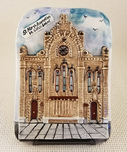 Photo of St. Mary's Assumption Church Handmade Ceramic Wall Plaque