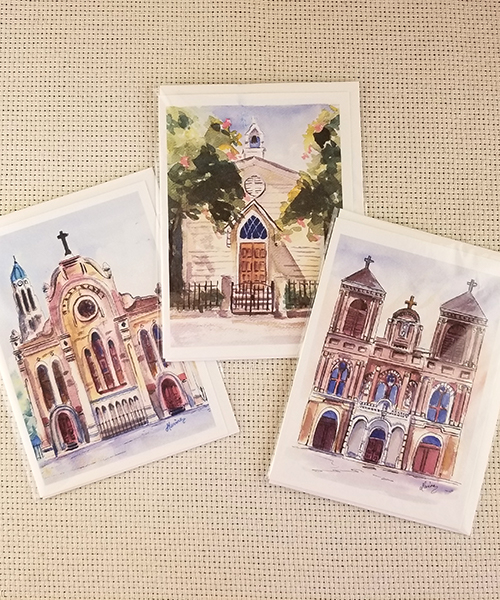 Photo of St. Mary's Chapel Watercolor Print Notecard