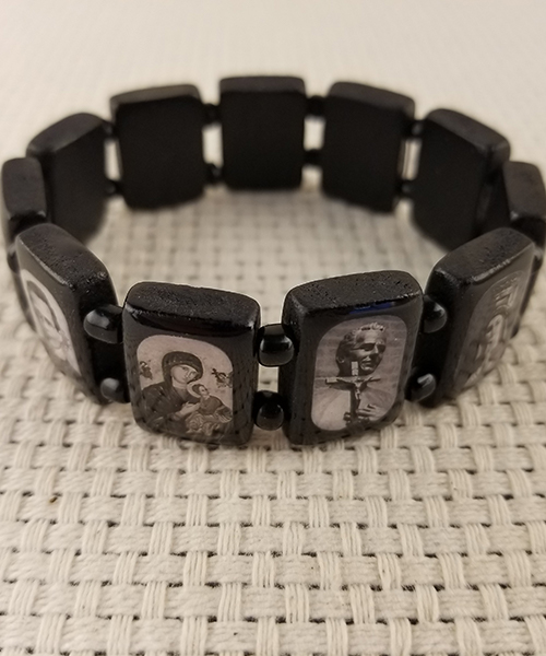 Photo of Small Black Wood Bracelet
