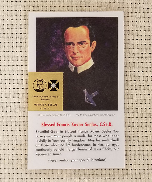 """Bountiful God"" Laminated Relic Prayer Card"