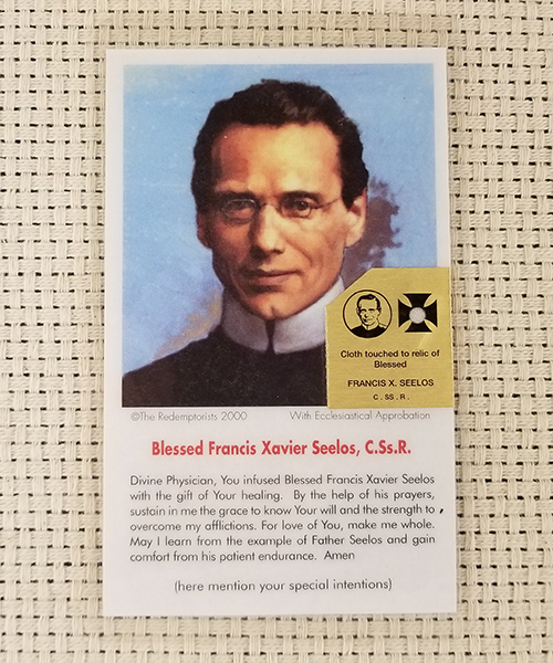 "Photo of ""Divine Physician"" Laminated Relic Prayer Card"
