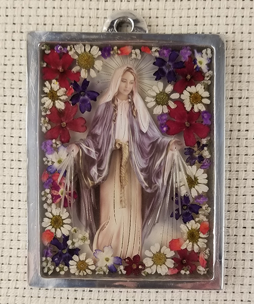 Photo of Pressed Flower Our Lady of Grace Frame