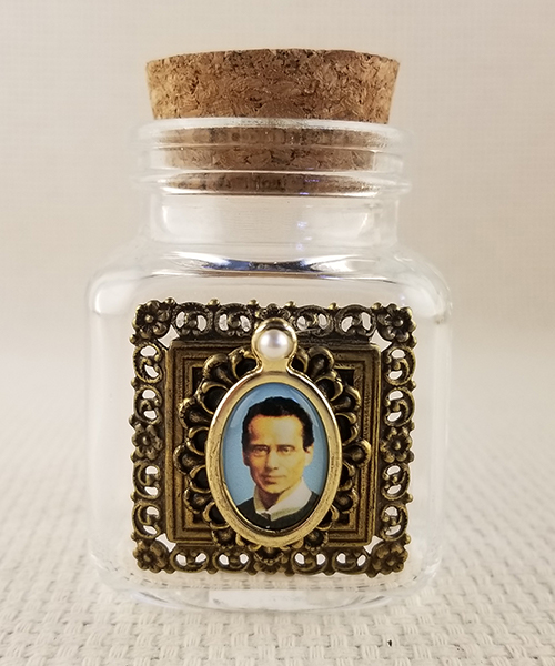 "Photo of ""Heaven Sent"" Small Glass Holy Water Bottle"