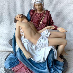 Full color Pieta statue