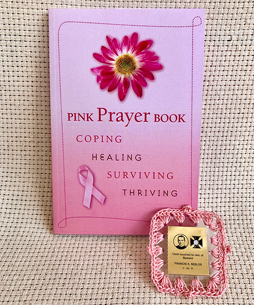 Pink Prayer Book and 3rd Class Relic